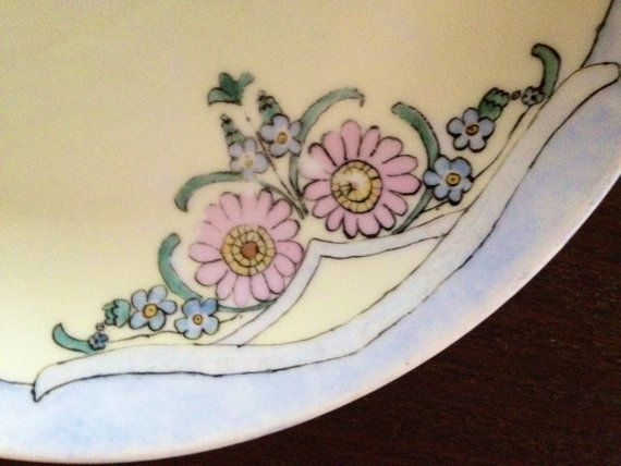 Art nouveau plate by WatercressGreen on Etsy, $8.00