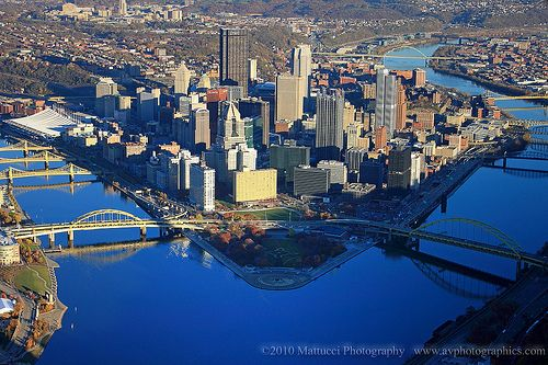 Aerial View Of Pittsburgh Aerial View Birds Eye View Great Places