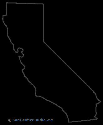 photo regarding California Outline Printable called California - Map Define, Printable Place, Condition, Stencil