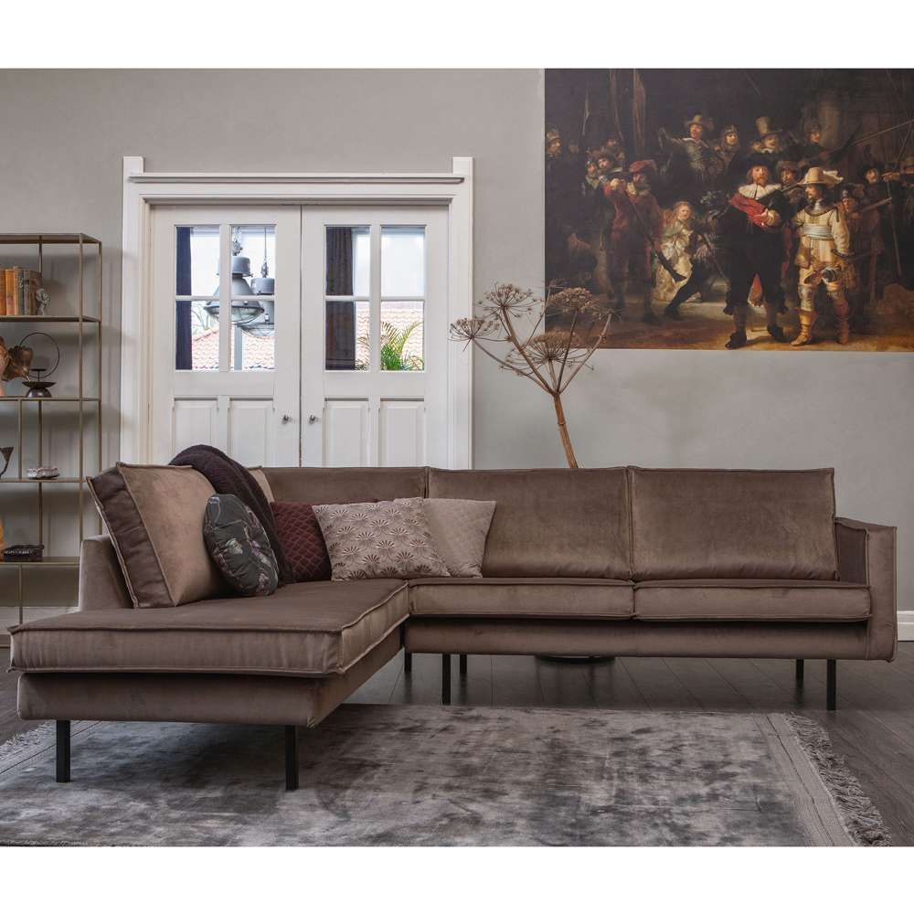 Bepurehome Ecksofa Rodeo Samt Taupe Longchair Links In 2020 Ecksofa Haus Deko Wohnzimmer Sofa
