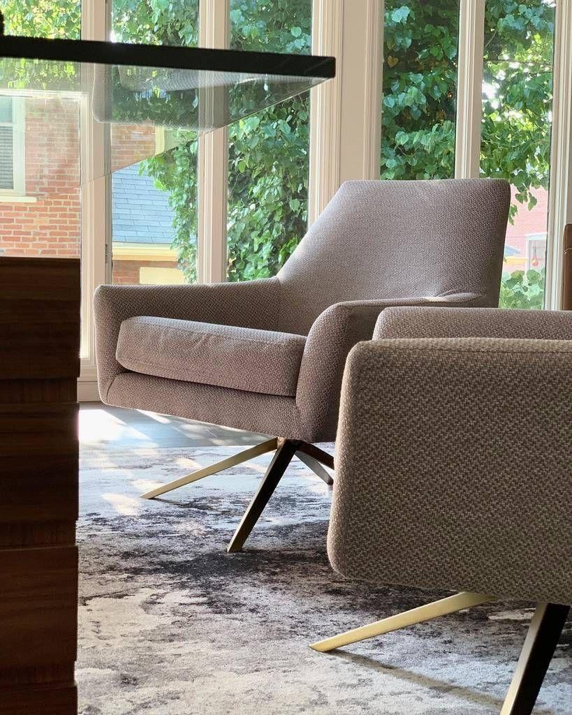 Spin Ink Blue Chair Chair, Modern swivel chair, Diy chair