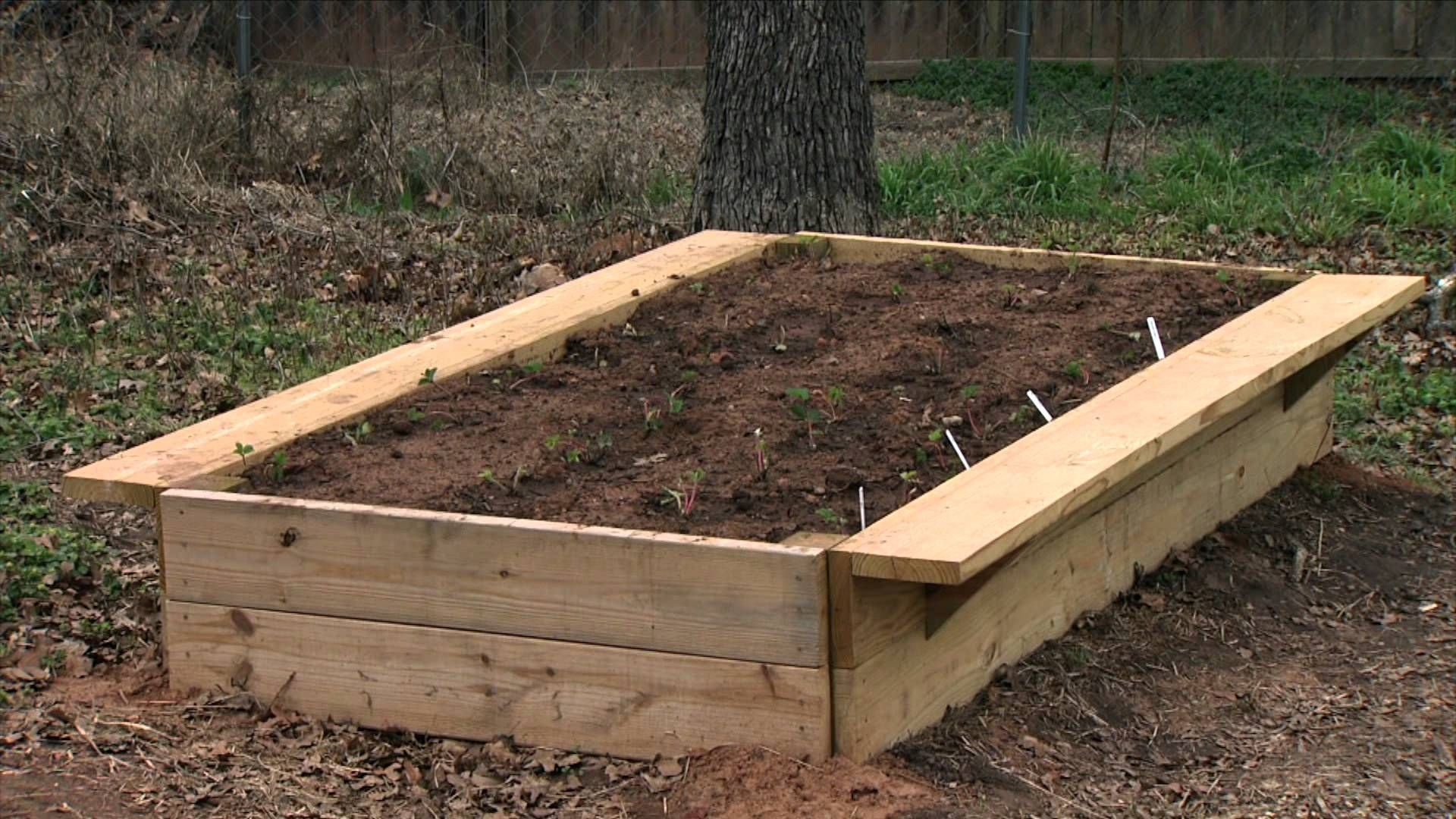 Former Oklahoma Gardening host Ray Campbell the construction, soil ...
