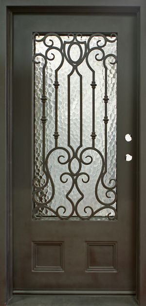 Single entry wrought iron doors decorative doors gates - Interior decorative wrought iron gates ...