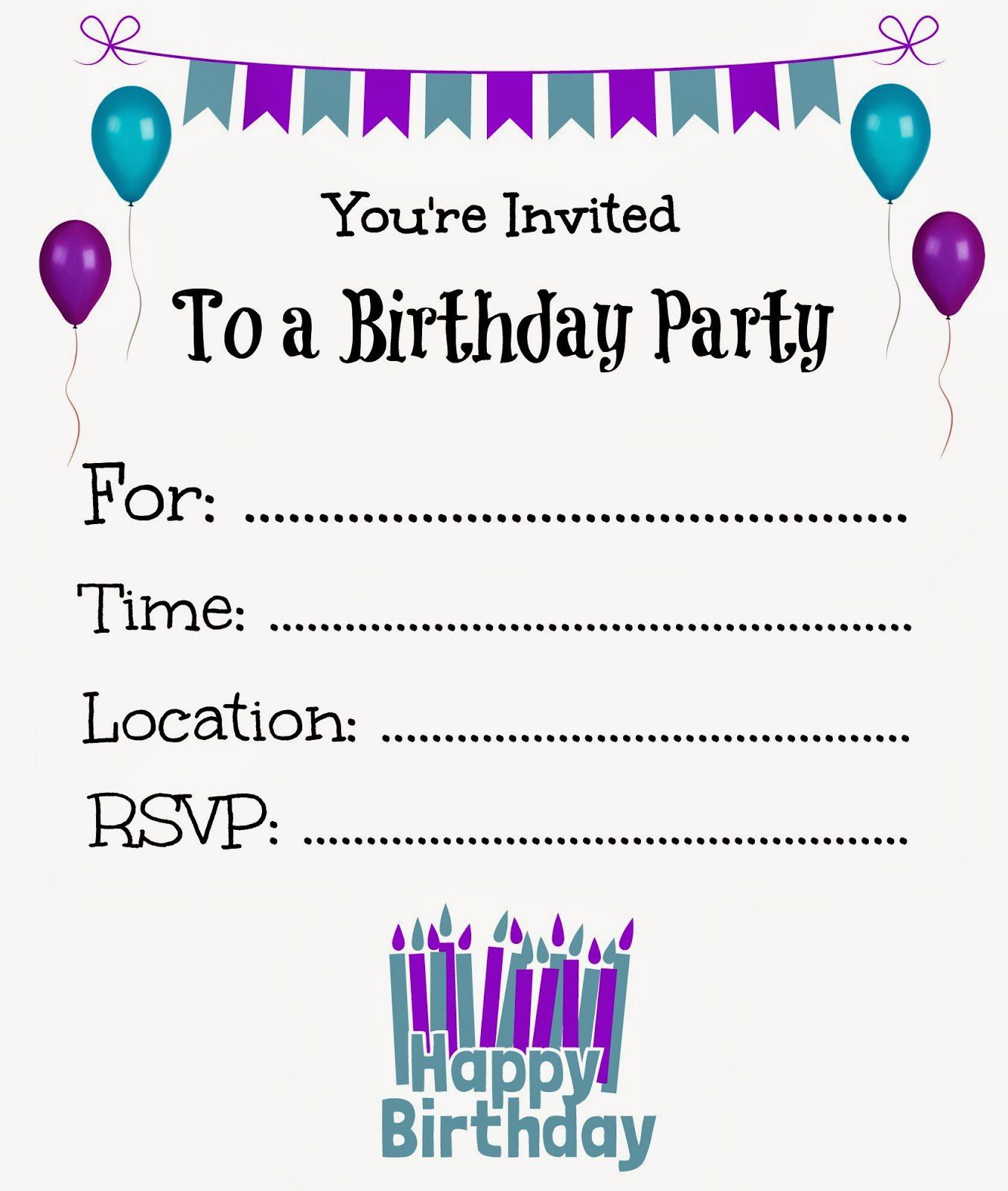 Wonderful Free Printable Birthday Invitations Templates  Invitations Samples For Birthday
