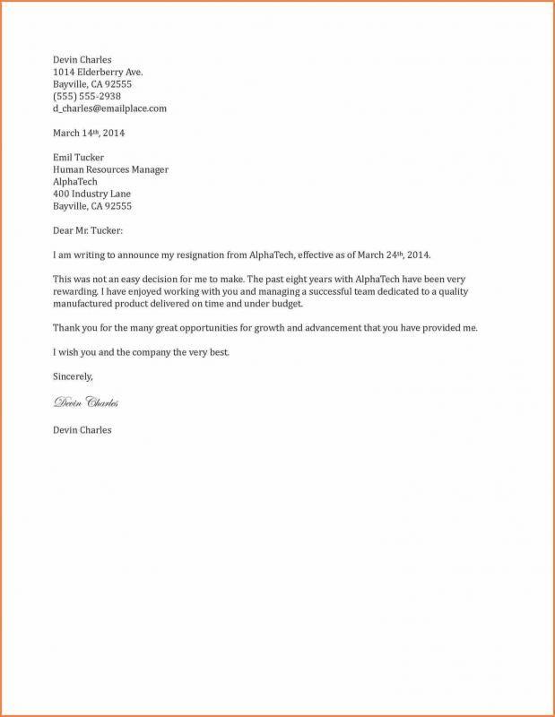 Free Resignation Letter Resignation Letter Sample Resignation