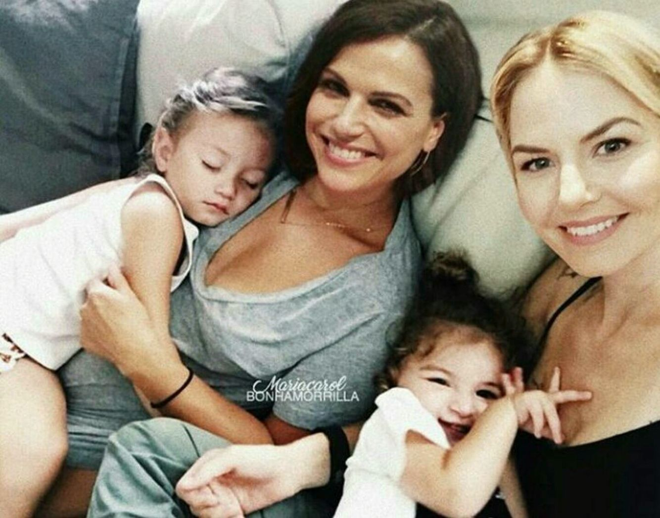 Awesome Lana and Jen (Regina and Emma) and their awesome daughters Robyn and Emma or Regina