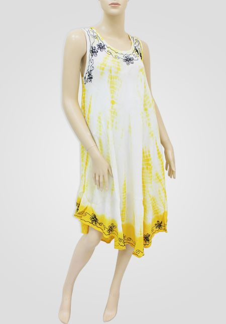 Tie Dye Dress Item Information 100 Viacose All Seasonal Colors Rayon Crepe Fashion With Intricate Embroidery One Size Fits Made In India