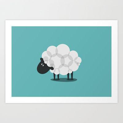 SHEEP Art Print by vaughn shim - $18.00