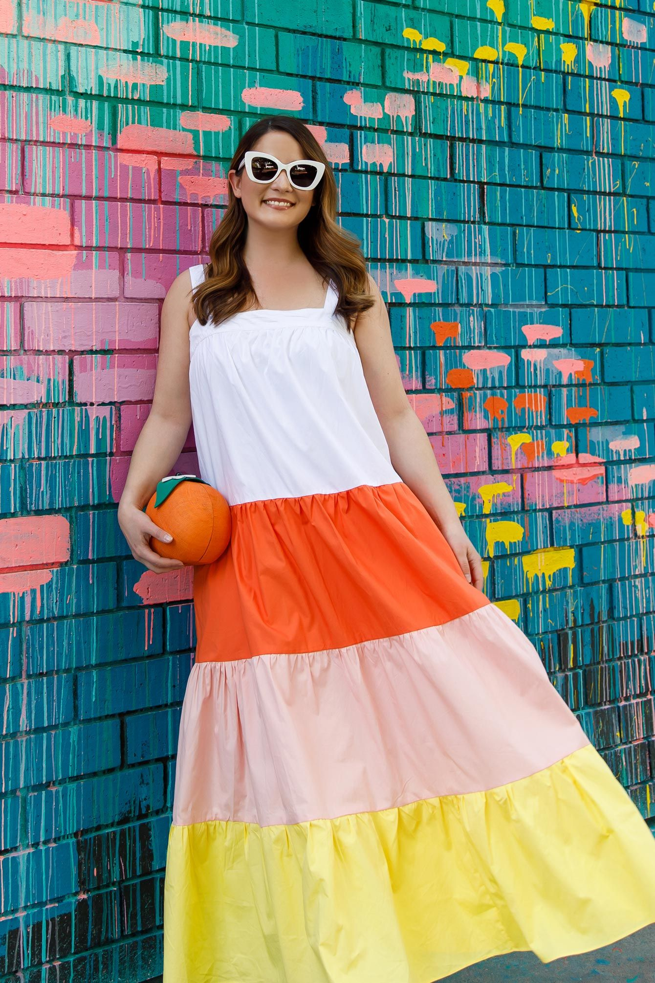 An Affordable Colorblock Tiered Maxi - Style Charade in 2020