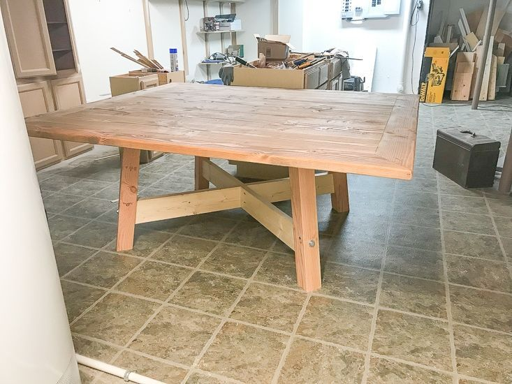 Diy farmhouse square dining table in 2020