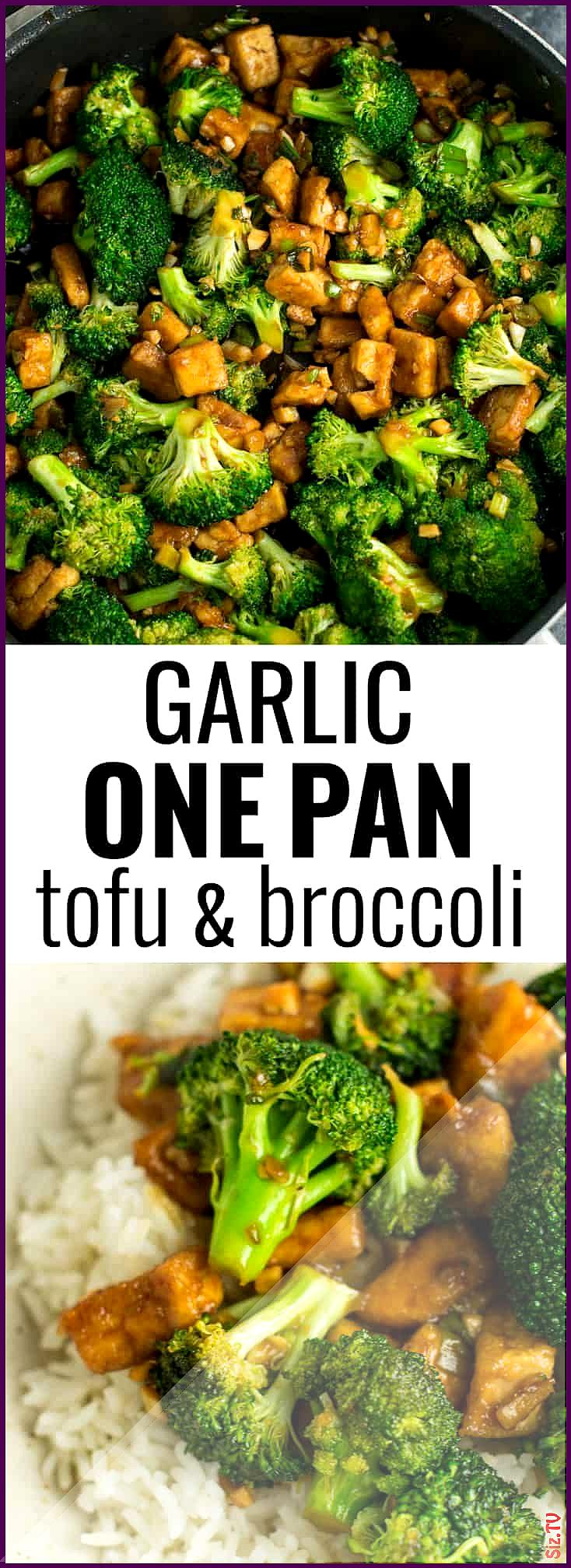 Garlic tofu broccoli skillet recipe made in just one pan A healthy alternative Garlic tofu broccoli skillet recipe made in just one pan A healthy alternative Tara waterme...