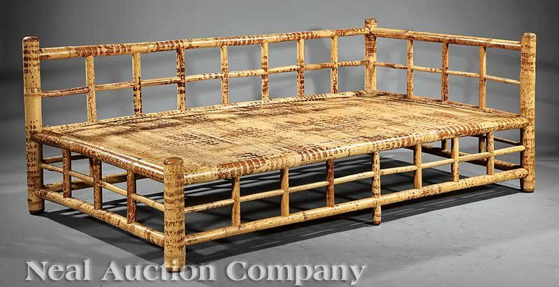 1335 Indonesian Bamboo Daybed Lot