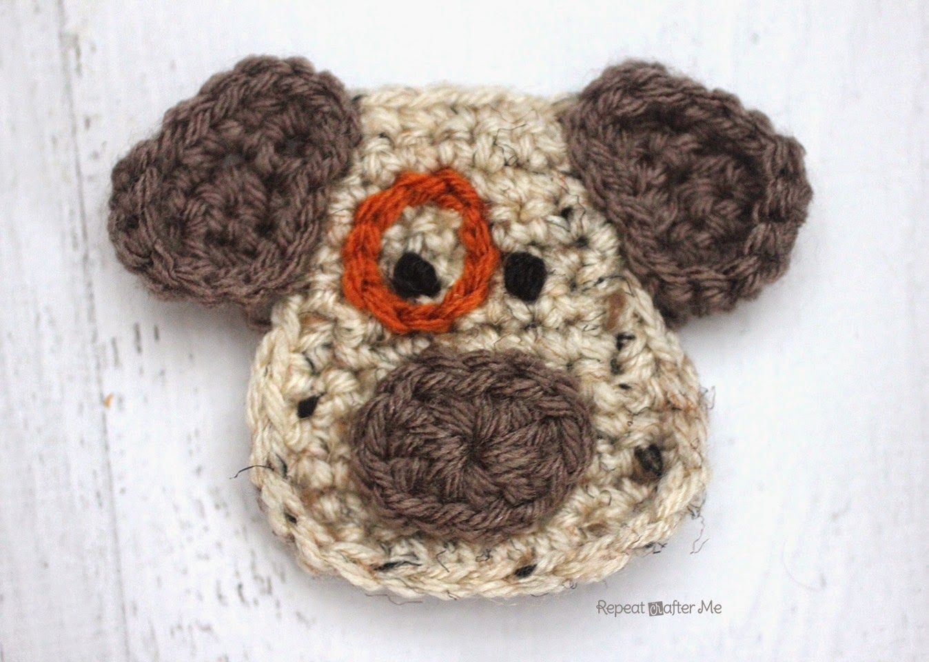 D is for Dog: Crochet Dog Applique (Repeat Crafter Me ...