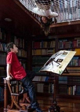 witzige idee - schwebendes netz für kinder zum lesen in der, Schlafzimmer