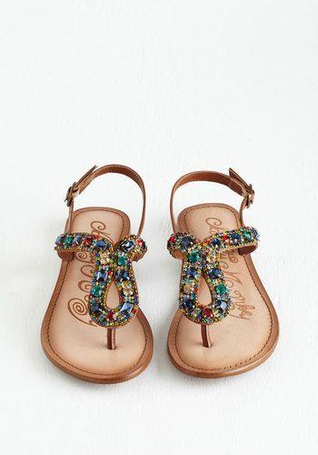Stop and Glisten Sandal | Mod Retro Vintage Sandals | ModCloth.com
