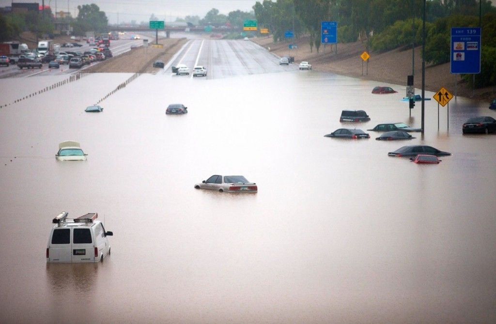 Image result for flooded cars Arizona, Drought, Flood