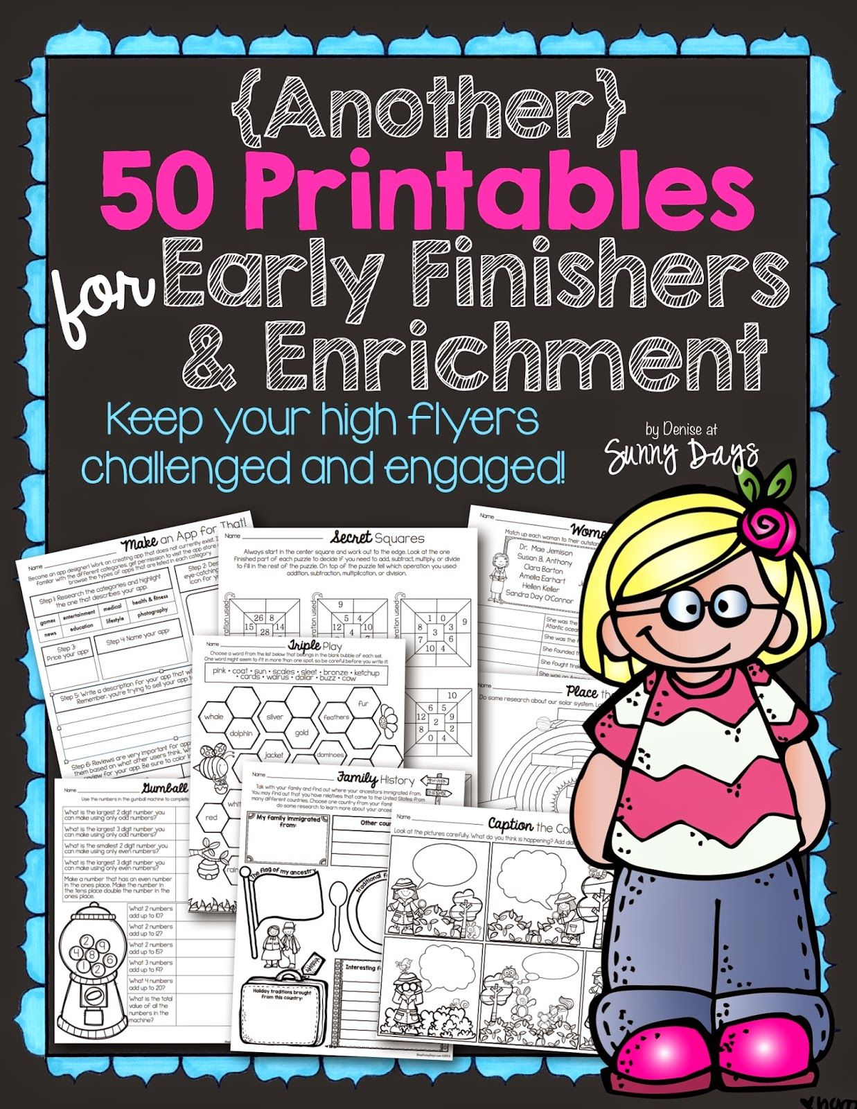 Worksheet Kindergarten Enrichment Activities lots of printables that relate to all curriculum areas use early finisher and enrichment solutions sunny days in second grade
