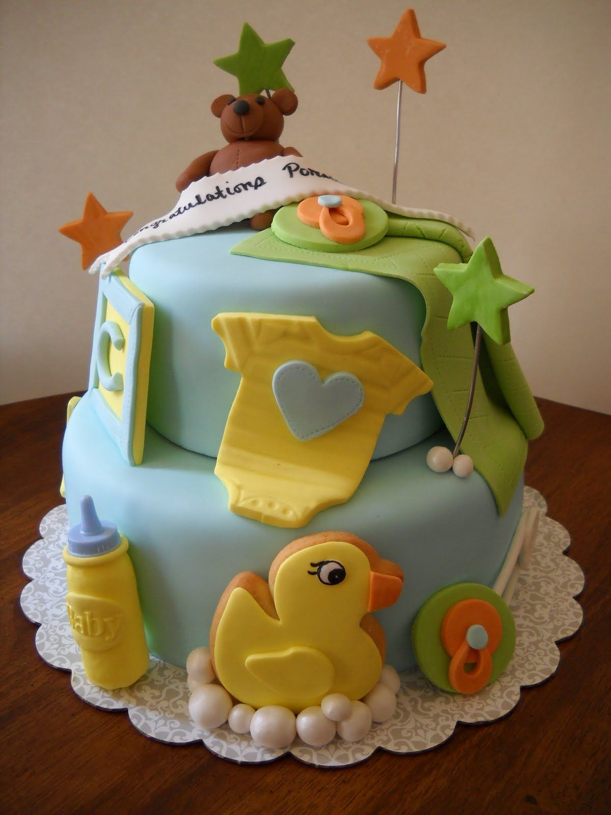 Tarau0027s Piece Of Cake: Boy Babyshower Cake