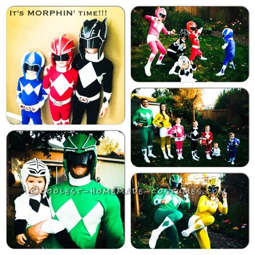 Coolest Ever DIY Power Rangers Costume Ideas  sc 1 st  Pinterest & Coolest Power Rangers Costumes for a Family Halloween Costume ...