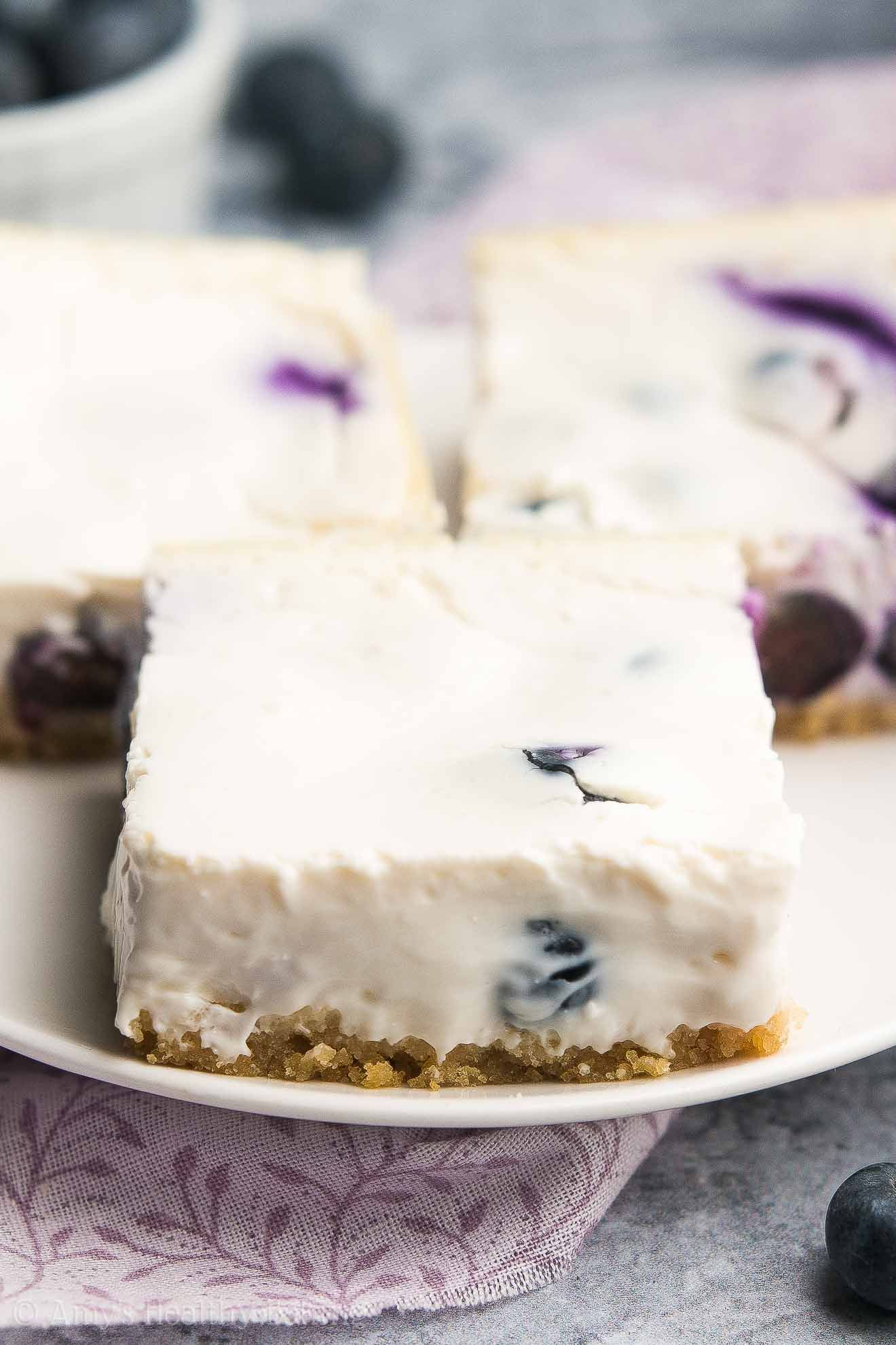 Healthy blueberry cheesecake bars sorbet recipes