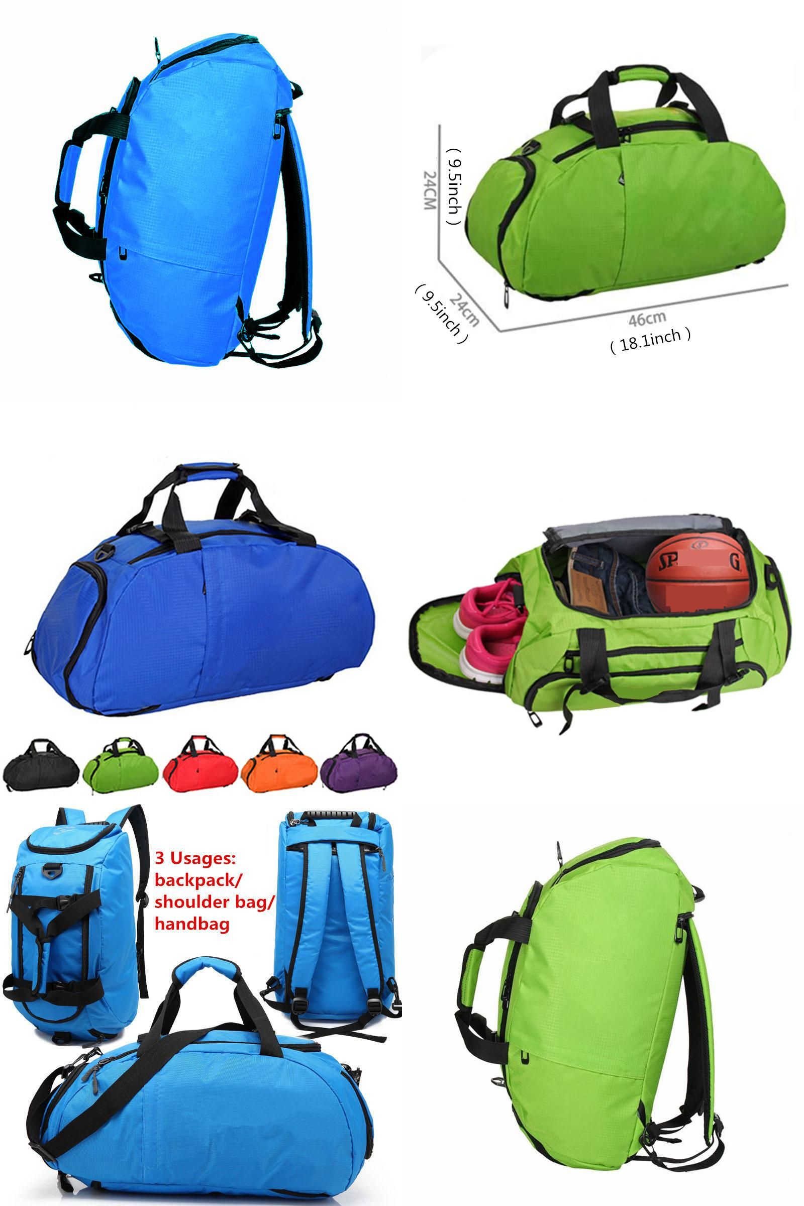 cb9b4bc6d38a  Visit to Buy  Multi-use Portable Sports Gym Backpack Shoulder Bag  Separated Shoes