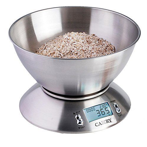camry high accuracy digital kitchen food scale mixing bowl 2 15l liquid volume room temperature and