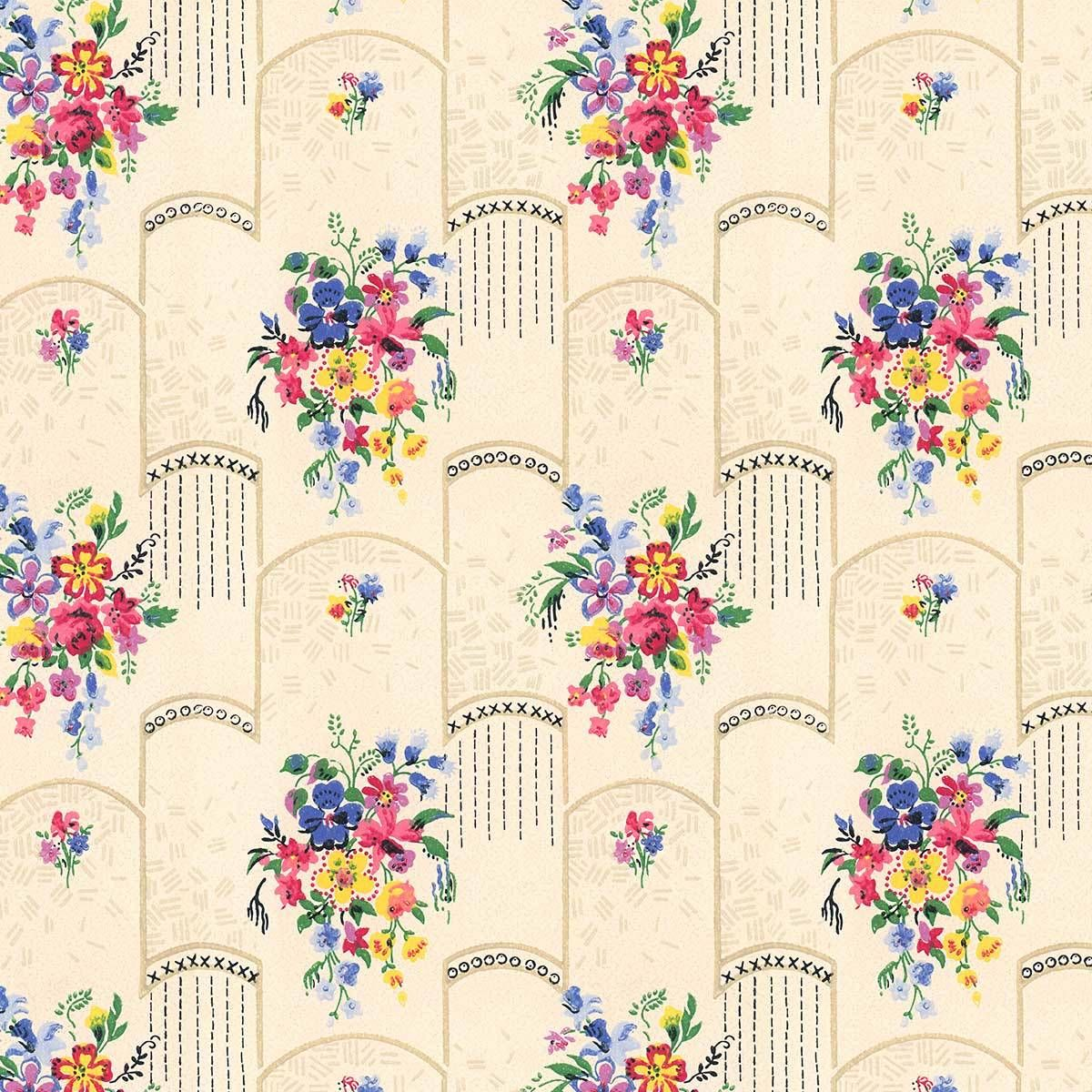 Deco Lane DesignYourWall Wallpaper, Vintage wallpaper