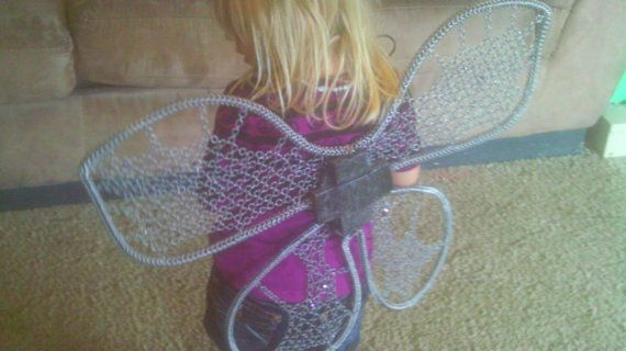 Chainmail Fairy costume wings by CelestialChainmail on Etsy, $50.00