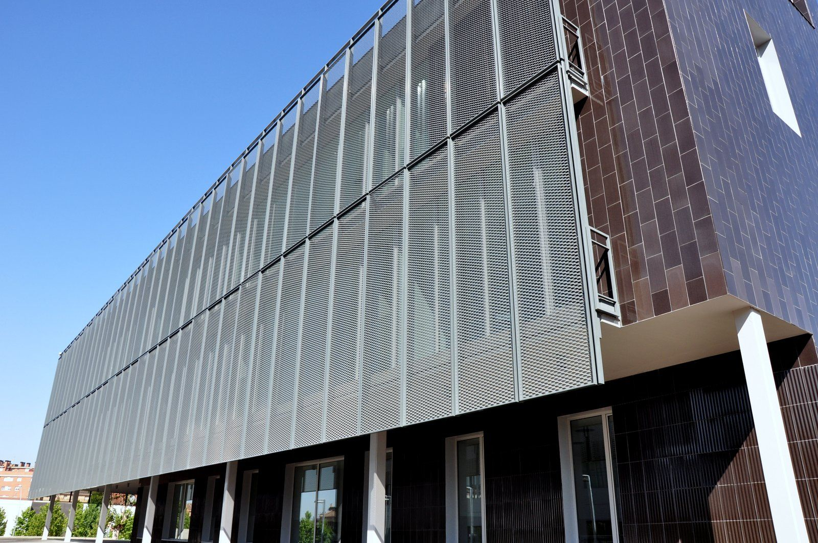 Aluminum Building Facade : Pix for gt perforated metal facade hoover pinterest