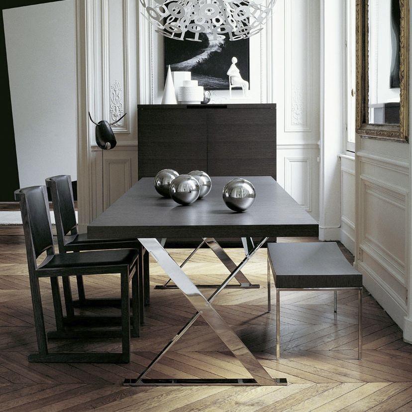 Mesa de comedor moderna / de madera / rectangular / redonda MAX - Comedores De Madera