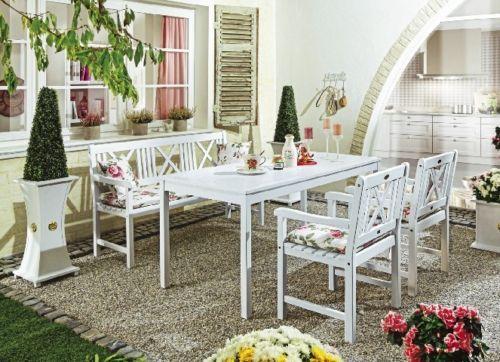 gartentisch weiß gartenmöbel tisch esstisch akazienholz schweden, Haus und garten