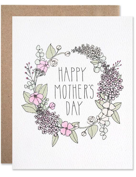 Mothers Day Wreath Grußkarten Basteln Geburtstagskarte Basteln