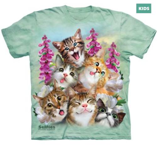 Cat Selfie T Shirt Tie Dye Tee Selfie Tee Funny Kittens Cool