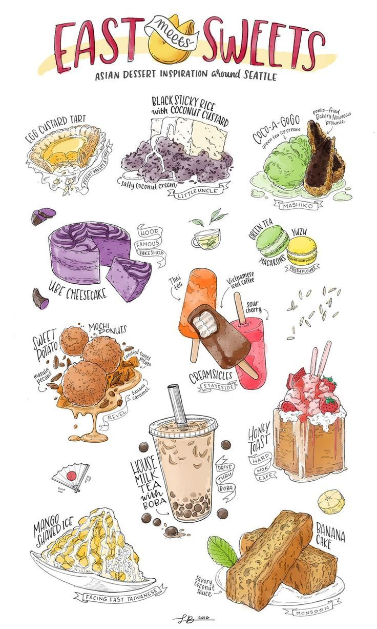 An Illustrated Guide to Asian Desserts in Seattle