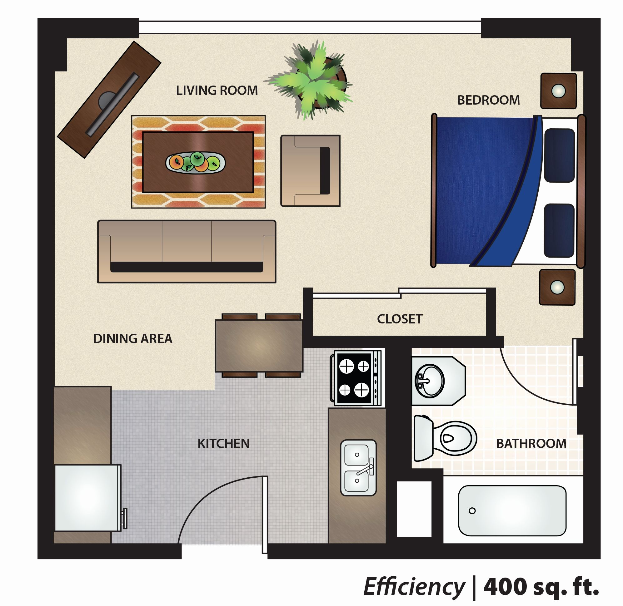House Plans Beautiful 400 Square Feet