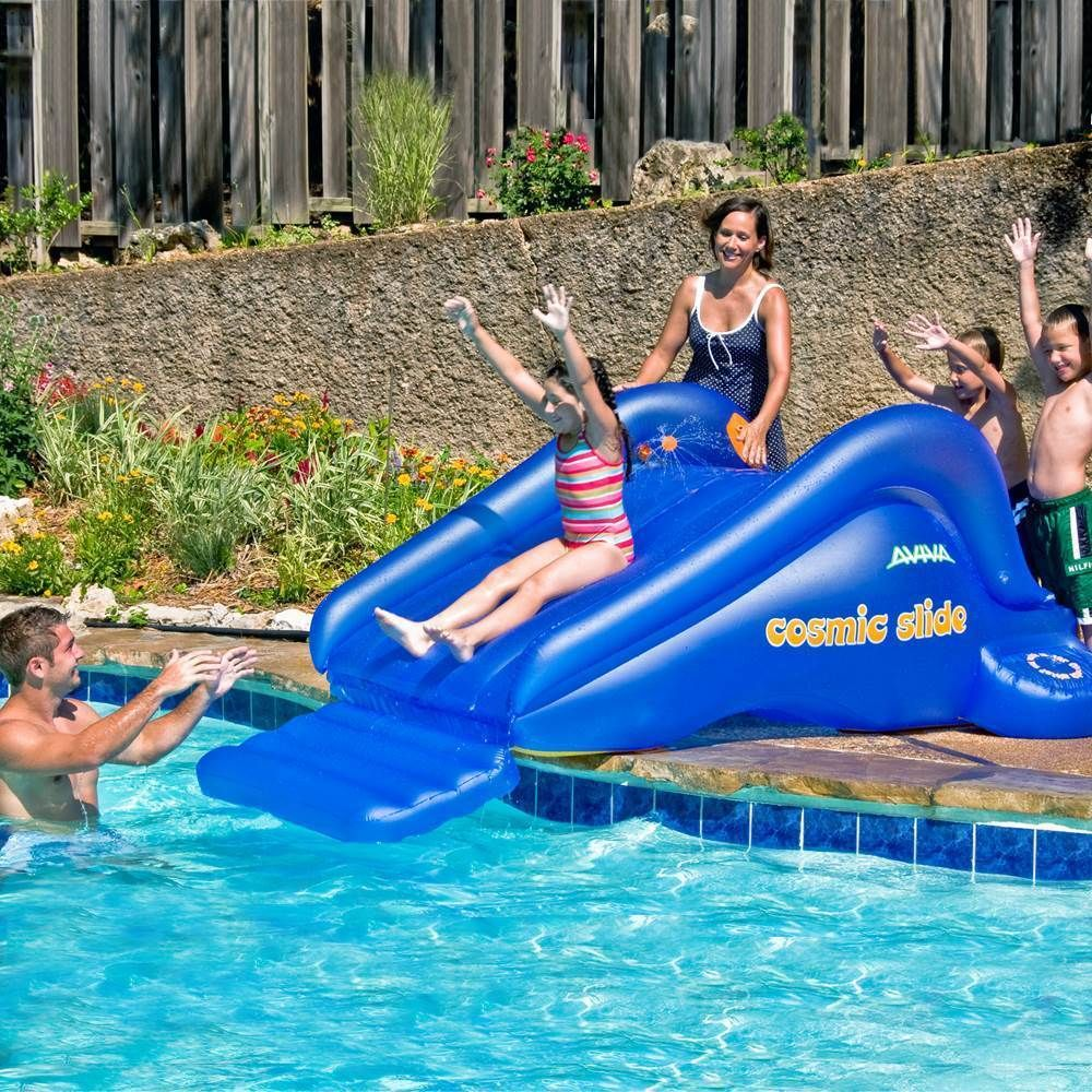 Outdoor Blue Swimming Pool Inflatable Water Float Slide