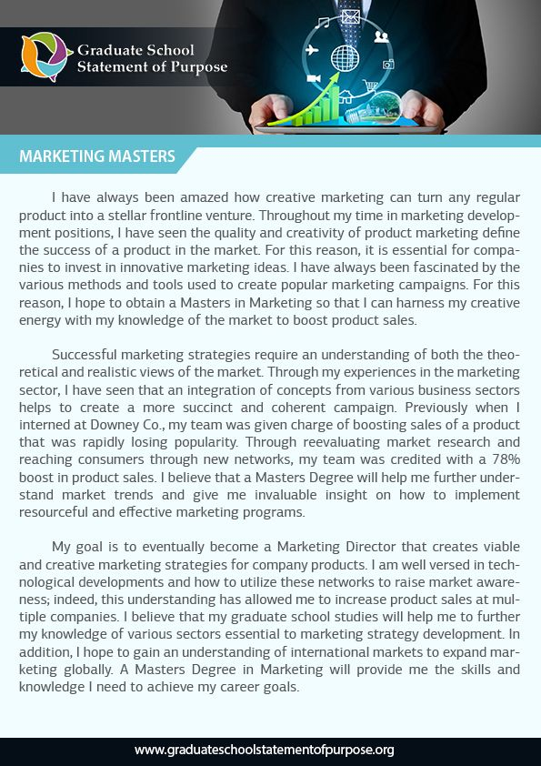 statement of purpose marketing