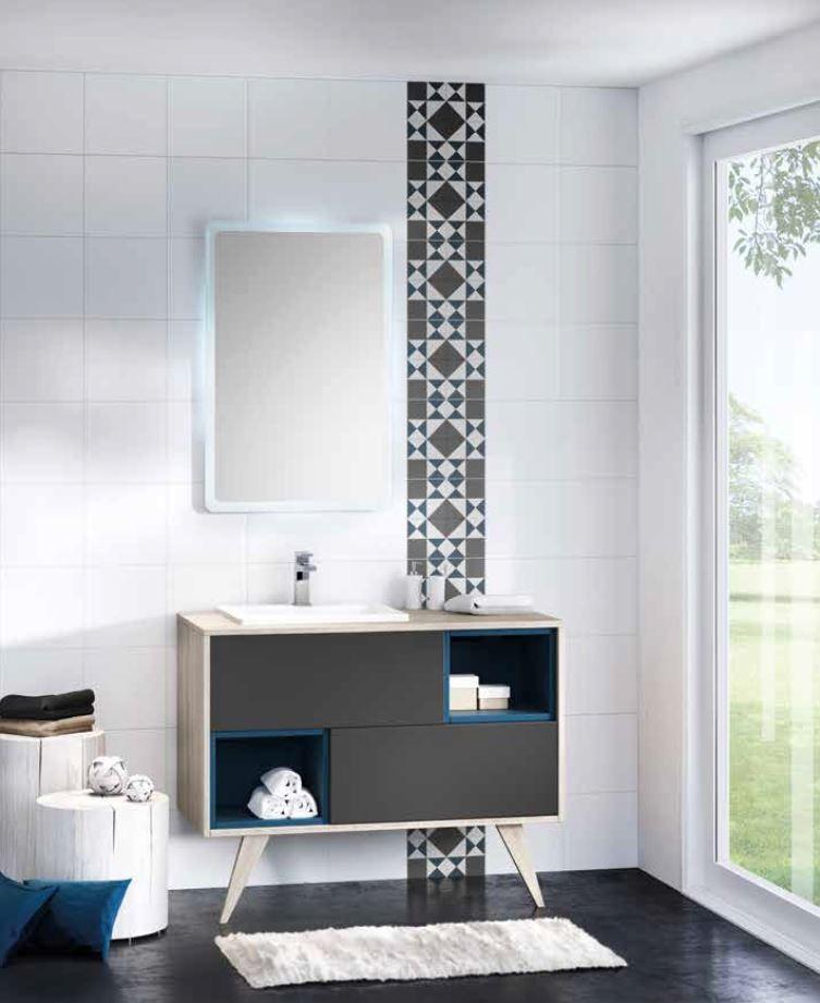 Ensemble de meuble pour salle de bain mosa que de chez - Meuble bas salle de bain sans vasque ...