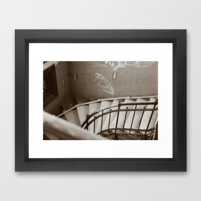 Photo of Stairwell IV Framed Art Print by Anja Hebrank – $36.00  #stairs #stairwell #blac…