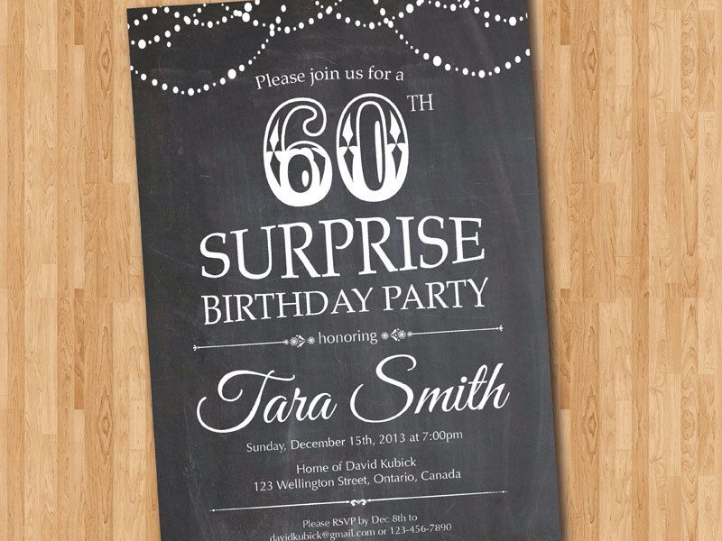 Surprise 60th birthday invitation chalkboard surprise birthday surprise 60th birthday invitation chalkboard surprise birthday adult men birthday invite any age filmwisefo