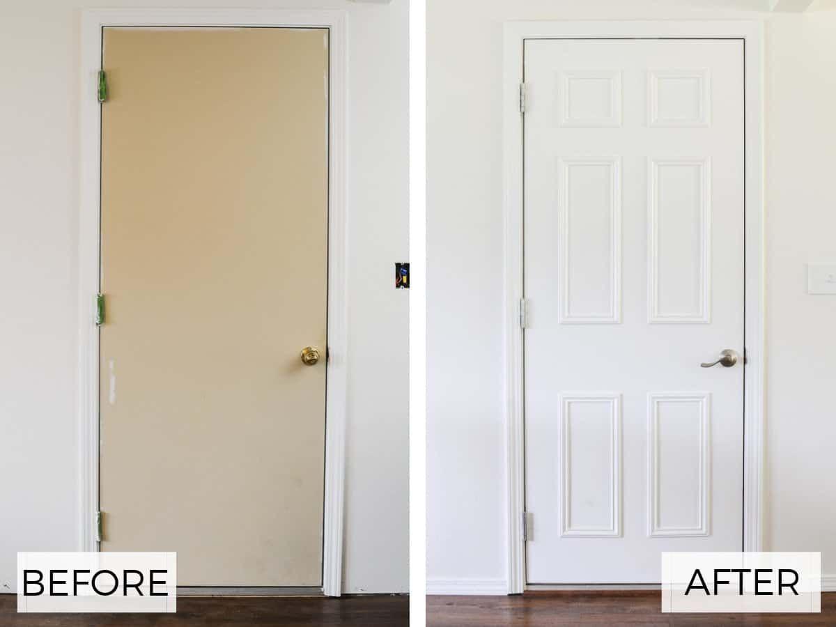 Easy Flat To 6 Panel Interior Door Makeover Door Makeover Diy