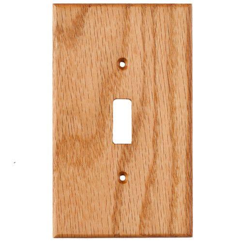 Oak Wood Wall Plate 1 Gang Light Switch Cover Plates On Wall Wood Wall Light Switch Covers