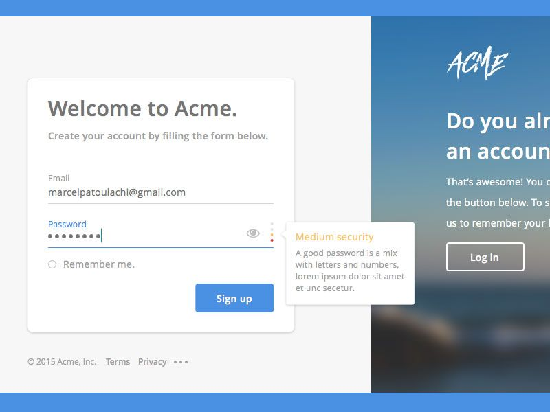 Web Signup Form Sketch Freebie Download Free Resource For Sketch