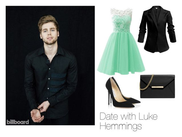 """Date with Luke Hemmings"" by snowbellexx on Polyvore featuring Mode, Jimmy Choo, MICHAEL Michael Kors, DateNight, date, 5sos, lukehemmings und 5secondsofsummer"