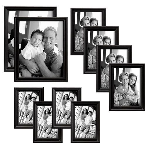 Mcs Industries Solid Wood Picture Frame Set Pack Of 10 Black 65508