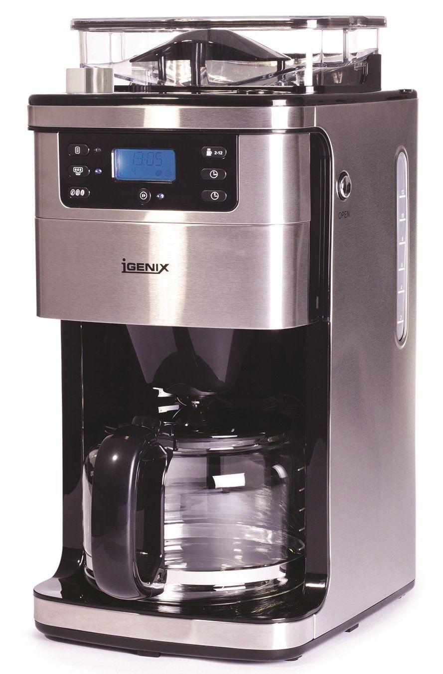 Igenix IG8225 12Cup Bean to Cup Coffee Maker, 1.5 L, 1050