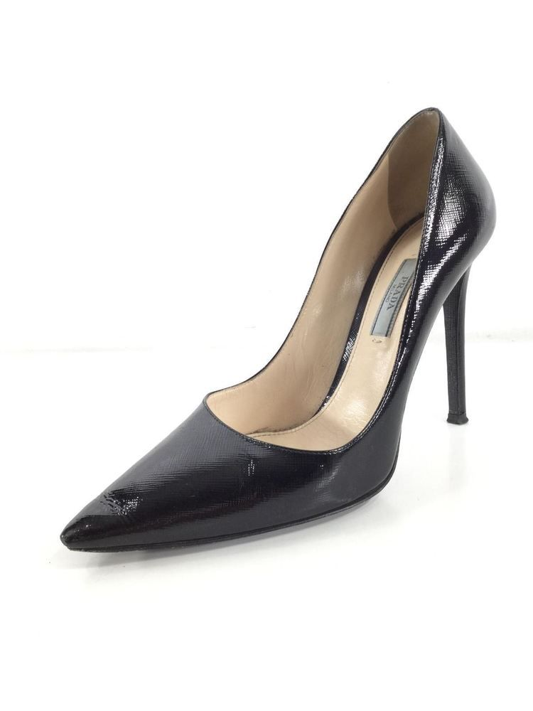 ebc449ae4635 125 Prada Black Saffiano Leather Pointy Toe Pumps Women s Sz 38.5 M   fashion  clothing  shoes  accessories  womensshoes  heels (ebay link)