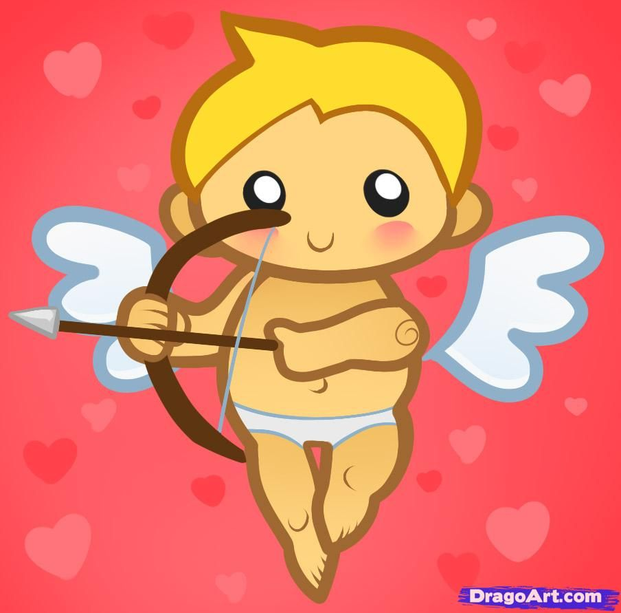 How To Draw Cupid For Kids Step By Step Valentines Seasonal Free Online Drawing Tutorial Added By Valentines Day Cartoons Valentine Drawing Cupid Drawing