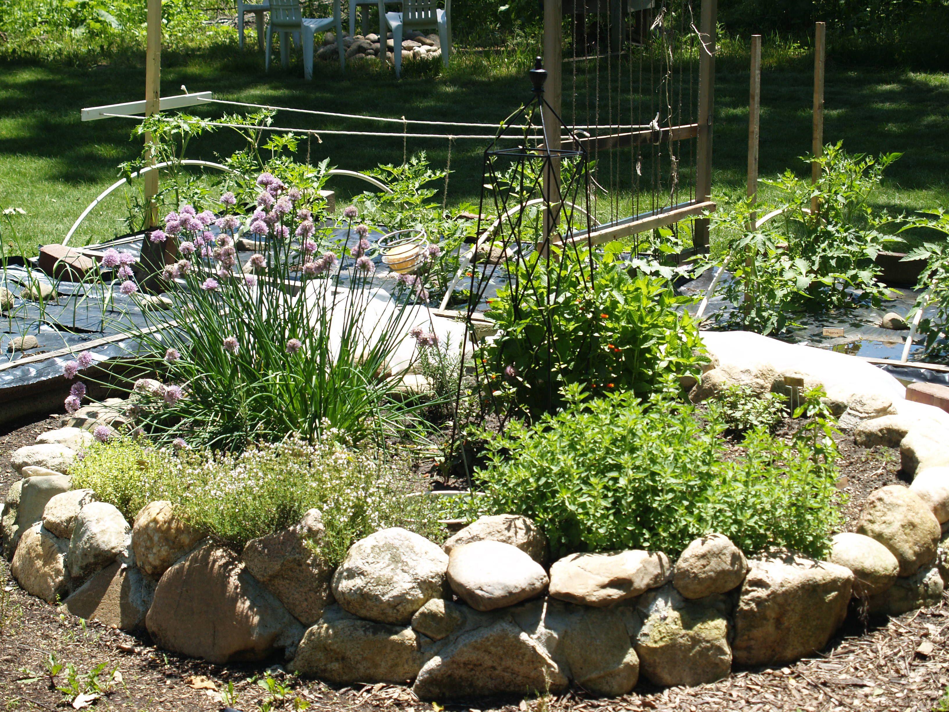 rock herb garden Herb Garden Path Ideas Pinterest Herbs