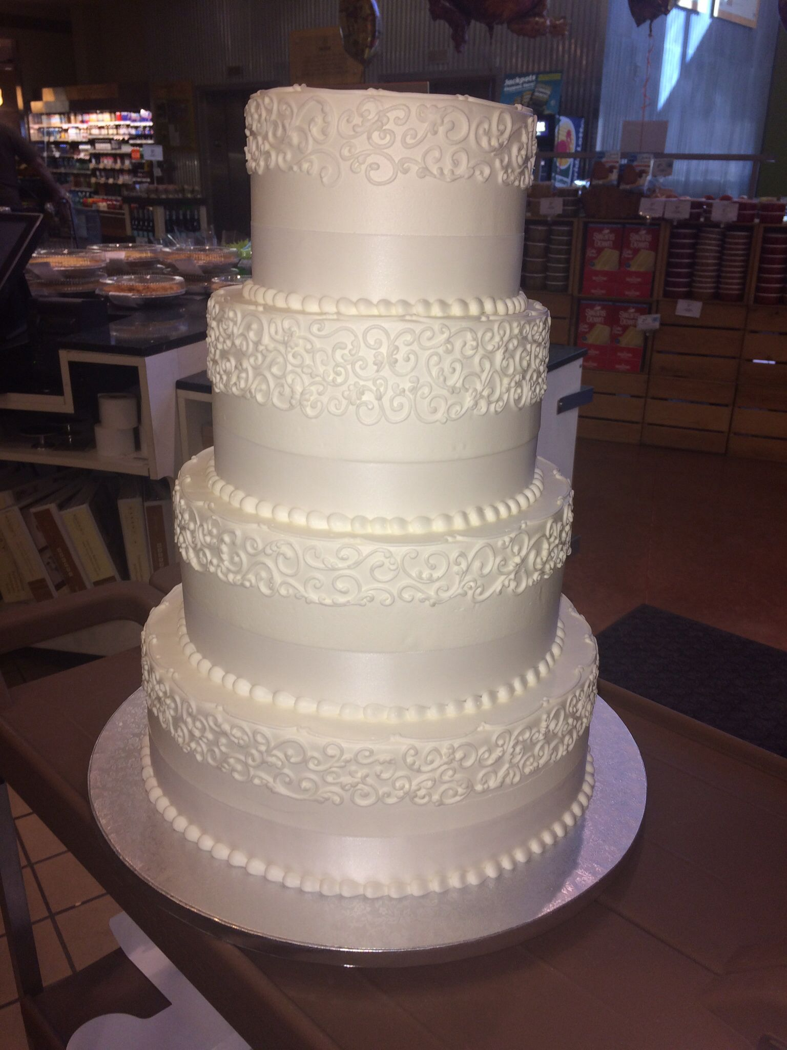 Publix GreenWise wedding cake Hyde Park Tampa FL